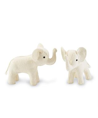 IVORY ELEPHANT BOOKENDS