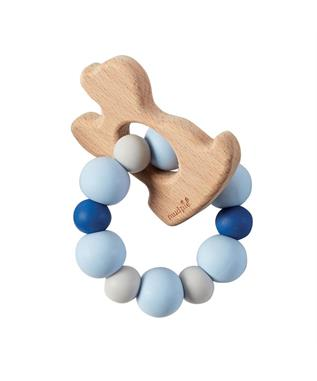 PUPPY WOOD TEETHER BLUE