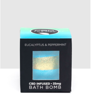 EUCALYPTUS AND PEPPERMINT BATH BOMB