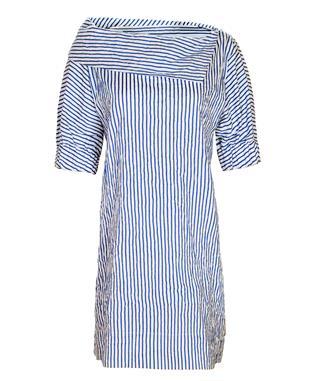 SKIPPER DRESS TEXTURED STRIPE