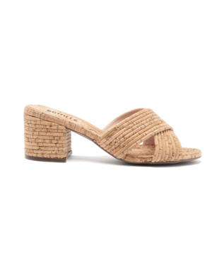 ANA KATE CORK WRAPPED HEELED SLIDE