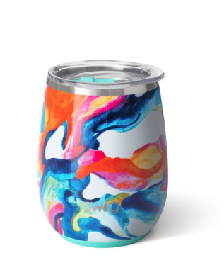 14 OZ STEMLESS CUP COLOR SWIRL