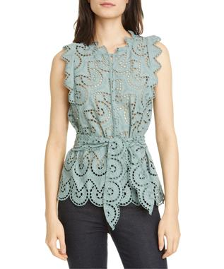 SLEVELESS MINA EYELET TOP