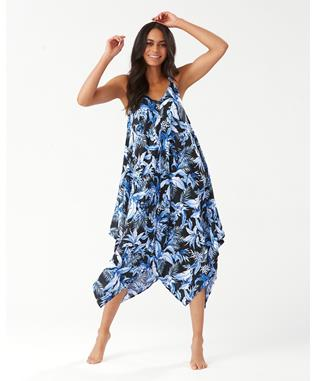 INDIGO GARDEN SCARF DRESS