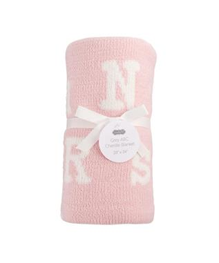 PINK ABC CHENILLE BLANKET
