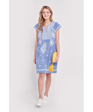 CHAMBRAY FAITH DRESS