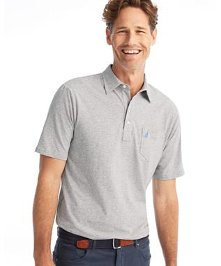 THE ORIGINAL 4 BUTTON POLO - HEATHERED