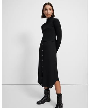 LS COMBO DRESS.SWEAT