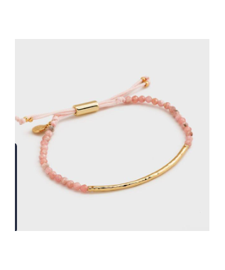 POWER GEMSTONE BRACELET COMPASSION GOLD / RHODOCROSITE