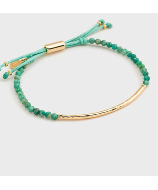 POWER GEMSTONE BRACELET -LUCK GOLD / AVENTURINE