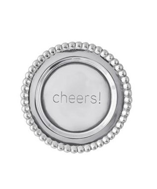 BEADED CHEERS WINE PLATE