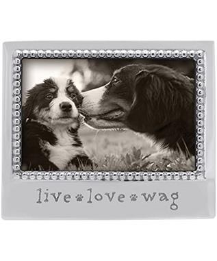LIVE LOVE WAG BEADED 4 X 6 FRAME