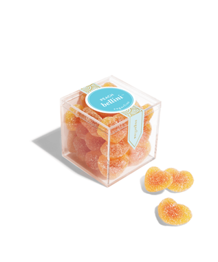 Peach bellini gummy candle cubes
