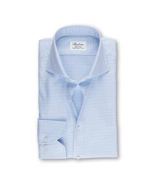 WHITE/LT BLUE CHECK SHIRT
