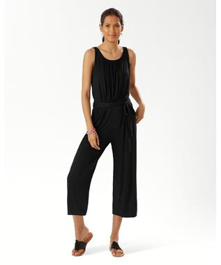 SLUB KNIT-KNIT CROP JUMPSUIT