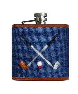 CROSSED CLUBS FLASK