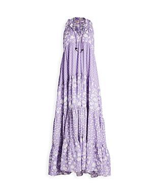 LONG SOFIA RUFFLE DRESS