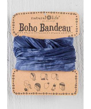 Boho Bandeau Tie-Dye Navy