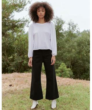 THE CROPPED PLEAT SLEEVE TEE