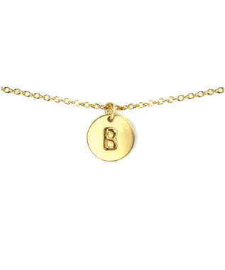 LETTER DISC NECKLACE B