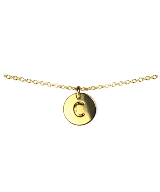 LETTER DISC NECKLACE C