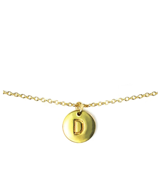 LETTER DISC NECKLACE D