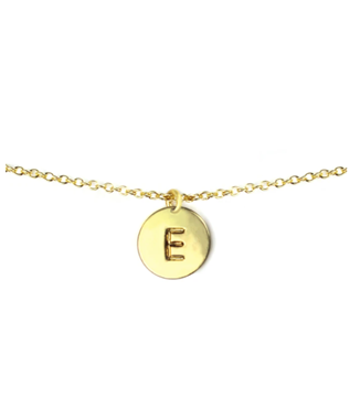 LETTER DISC NECKLACE E