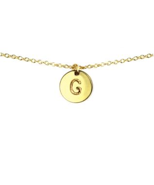 LETTER DISC NECKLACE G
