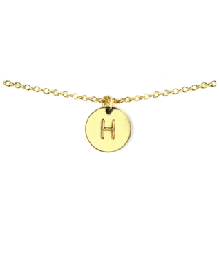 LETTER DISC NECKLACE H
