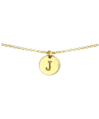 LETTER DISC NECKLACE J