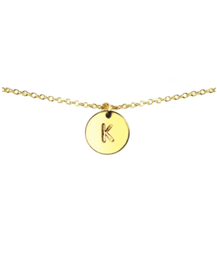 LETTER DISC NECKLACE K