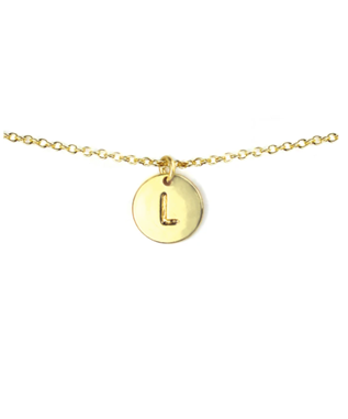 LETTER DISC NECKLACE L