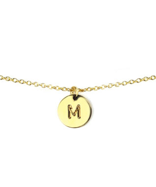 LETTER DISC NECKLACE M