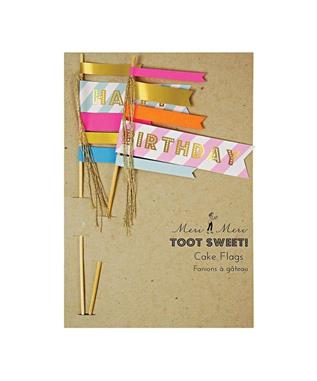 BIRTHDAY FLAG CAKE TOPPERS
