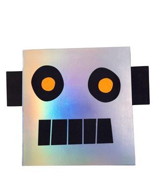 ROBOT STICKER AND SKETCH BOOK
