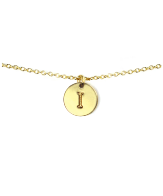 LETTER DISC NECKLACE I