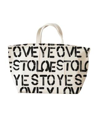YES TO LOVEY SMALL CANVAS TOTE BAG
