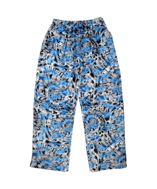 BLUE TIE DYE PLUSH PANTS