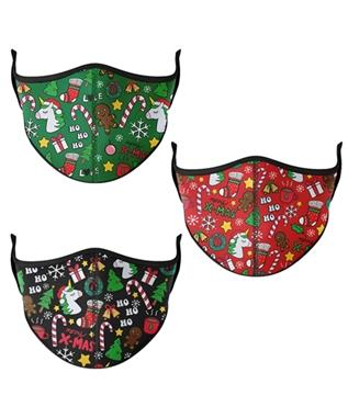 ONE SIZE FITS MOST CHRISTMAS FACE MASK