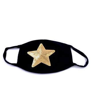 GOLD STAR FACE MASK