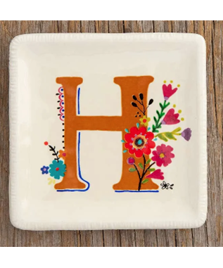INITIAL TRINKET TRAY - H