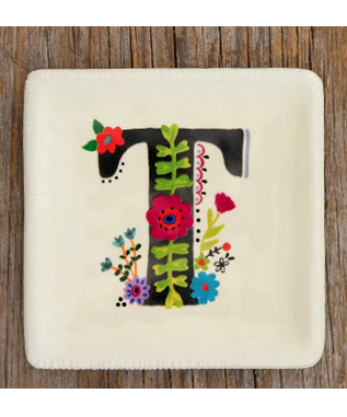 INITIAL TRINKET TRAY - T