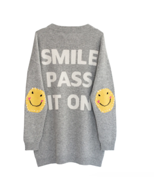 SMILE PATCHWORK PULLOVER