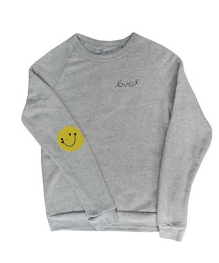 PATCH SMILEY SWEATSHIRT