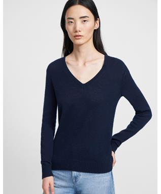 CASHMERE VNECK.FEATH