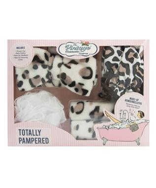 TOTALLY PAMPERED LEOPARD PRINT GIFT SET