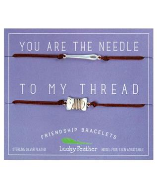 NEEDLE/THREAD FRIENDSHIP BRACELET