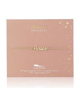 Zodiac Cord Bracelet Gold - ARIES