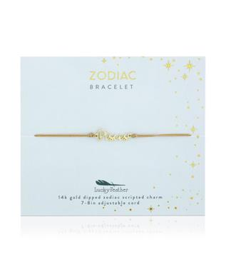 Zodiac Cord Bracelet Gold - PISCES