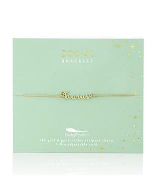 Zodiac Cord Bracelet Gold - TAURUS